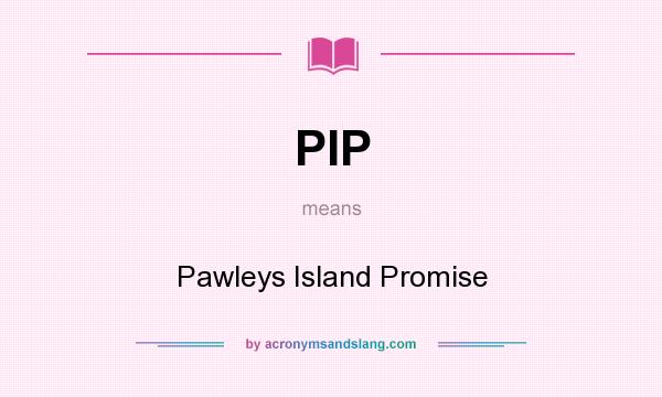 What does PIP mean? It stands for Pawleys Island Promise