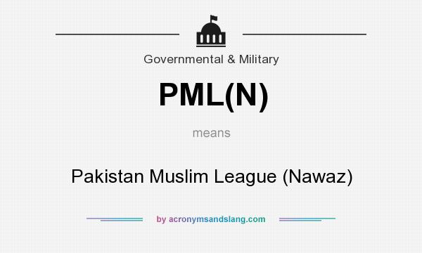 What does PML(N) mean? It stands for Pakistan Muslim League (Nawaz)