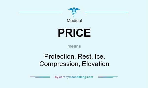 What does PRICE mean? It stands for Protection, Rest, Ice, Compression, Elevation