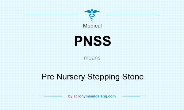 What does PNSS mean? It stands for Pre Nursery Stepping Stone