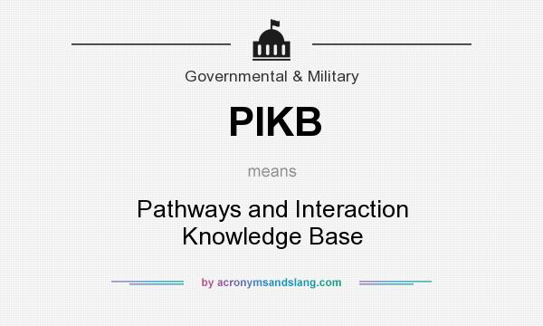 What does PIKB mean? It stands for Pathways and Interaction Knowledge Base