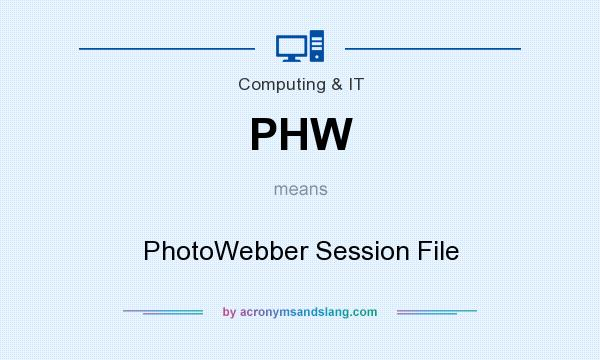 What does PHW mean? It stands for PhotoWebber Session File