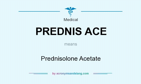 What does PREDNIS ACE mean? It stands for Prednisolone Acetate