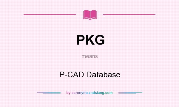 What does PKG mean? It stands for P-CAD Database