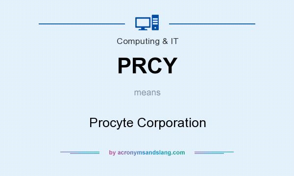 What does PRCY mean? It stands for Procyte Corporation