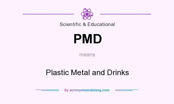 What does PMD mean? It stands for Plastic Metal and Drinks