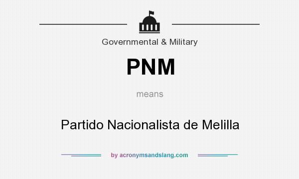 What does PNM mean? It stands for Partido Nacionalista de Melilla