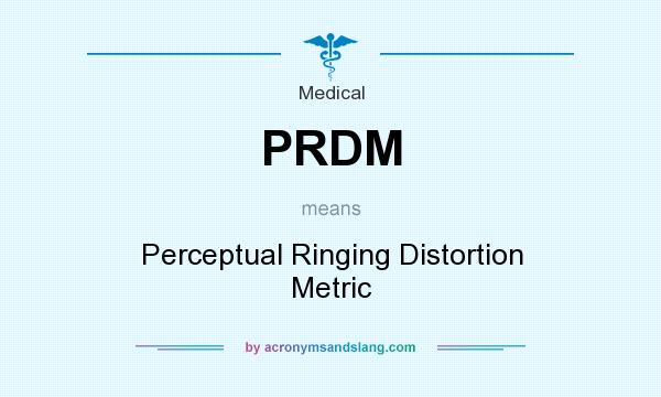 What does PRDM mean? It stands for Perceptual Ringing Distortion Metric