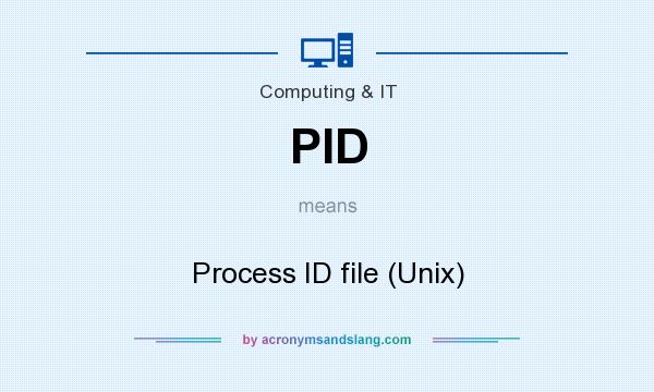 What does PID mean? It stands for Process ID file (Unix)