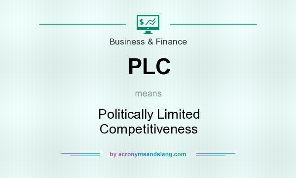 What does PLC mean? It stands for Politically Limited Competitiveness