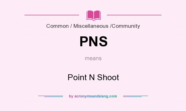 What does PNS mean? It stands for Point N Shoot