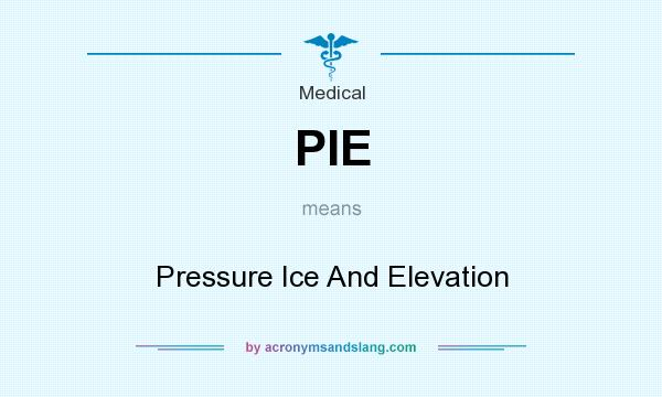 What does PIE mean? It stands for Pressure Ice And Elevation