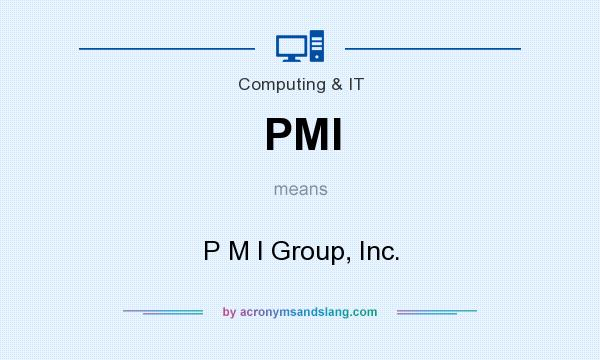 What does PMI mean? It stands for P M I Group, Inc.