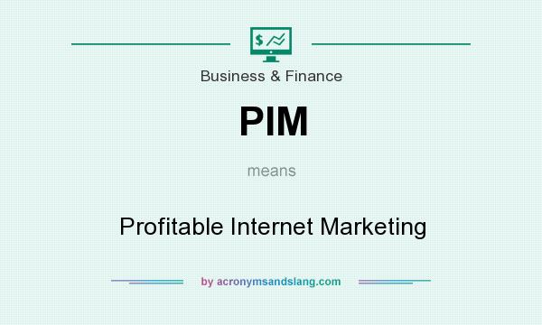 What does PIM mean? It stands for Profitable Internet Marketing