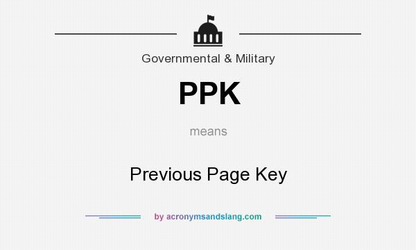 What does PPK mean? It stands for Previous Page Key