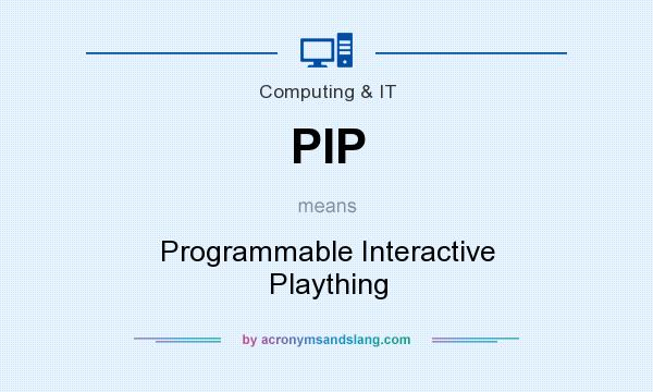 What does PIP mean? It stands for Programmable Interactive Plaything