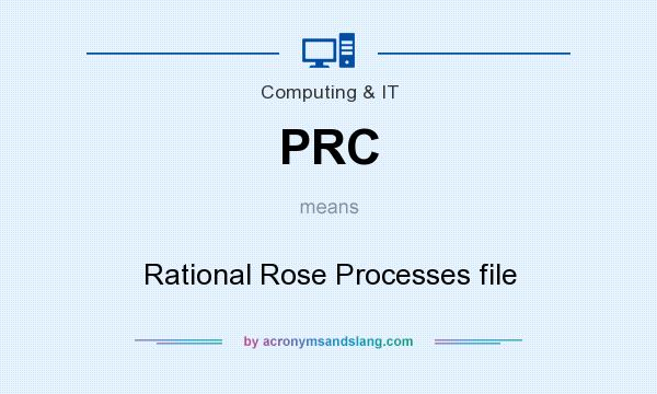 What does PRC mean? It stands for Rational Rose Processes file
