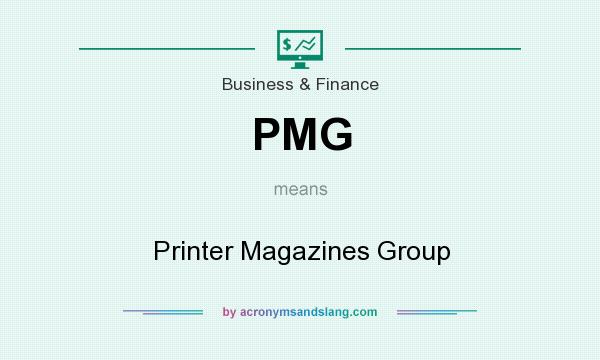 What does PMG mean? It stands for Printer Magazines Group