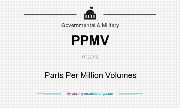 What does PPMV mean? It stands for Parts Per Million Volumes