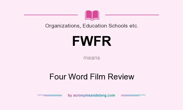 four word film review