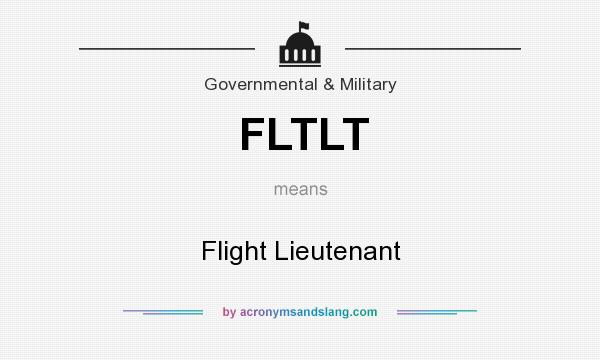 What does FLTLT mean? It stands for Flight Lieutenant