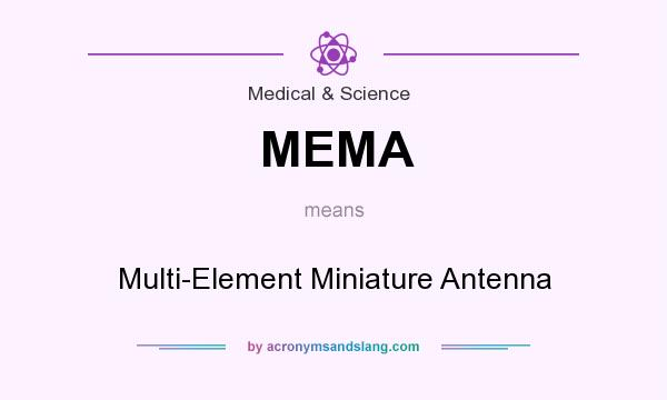 What does MEMA mean? It stands for Multi-Element Miniature Antenna