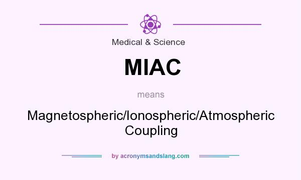 What does MIAC mean? It stands for Magnetospheric/Ionospheric/Atmospheric Coupling