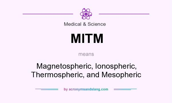 What does MITM mean? It stands for Magnetospheric, Ionospheric, Thermospheric, and Mesopheric