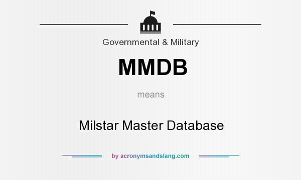 MMDB - Milstar Master Database in Government & Military by