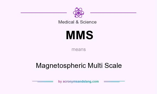 What does MMS mean? It stands for Magnetospheric Multi Scale