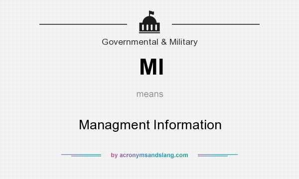 What does MI mean? It stands for Managment Information