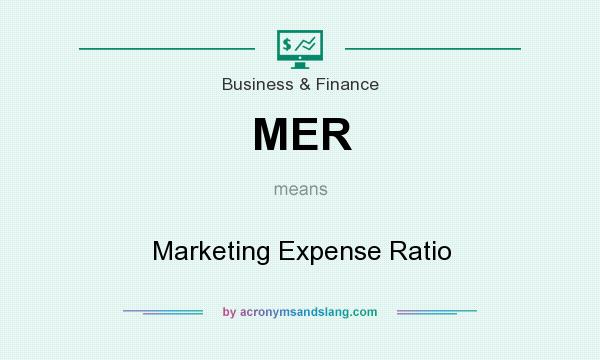 What does MER mean? It stands for Marketing Expense Ratio