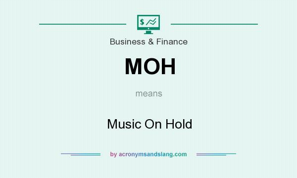 What does MOH mean? It stands for Music On Hold