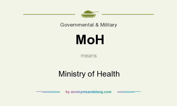 What does MoH mean? It stands for Ministry of Health