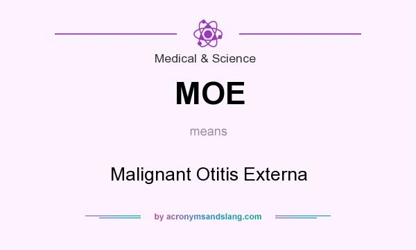 What does MOE mean? It stands for Malignant Otitis Externa