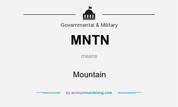 What does MNTN mean? It stands for Mountain
