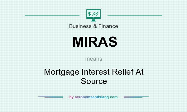 What does MIRAS mean? It stands for Mortgage Interest Relief At Source