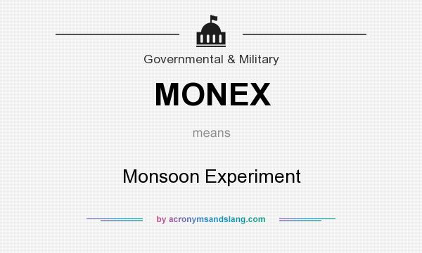 What does MONEX mean? It stands for Monsoon Experiment