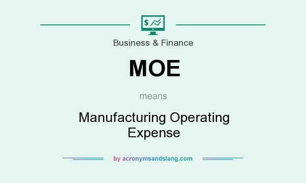 What does MOE mean? It stands for Manufacturing Operating Expense