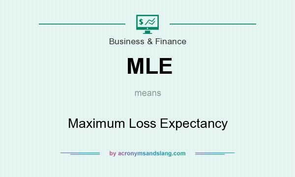 What does MLE mean? It stands for Maximum Loss Expectancy
