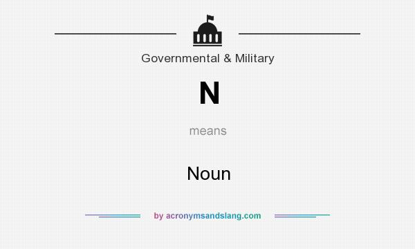 What does N mean? It stands for Noun