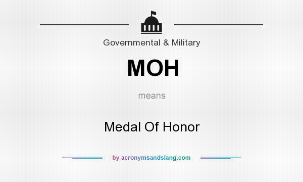What does MOH mean? It stands for Medal Of Honor