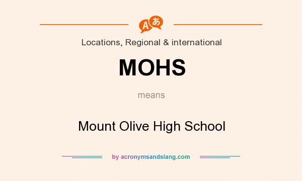 What does MOHS mean? It stands for Mount Olive High School