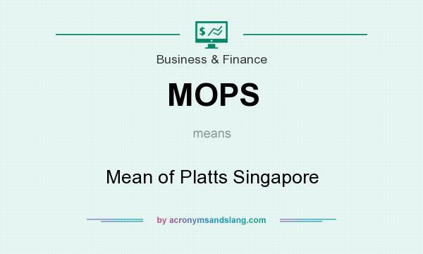MOPS - Mean of Platts Singapore in Business & Finance by