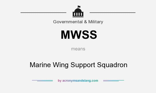 What does MWSS mean? It stands for Marine Wing Support Squadron