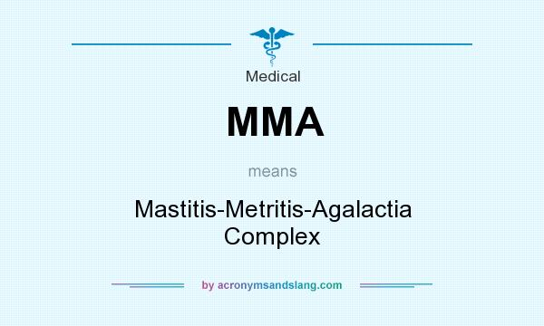 What does MMA mean? It stands for Mastitis-Metritis-Agalactia Complex