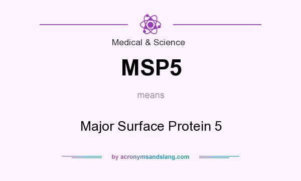 What does MSP5 mean? It stands for Major Surface Protein 5