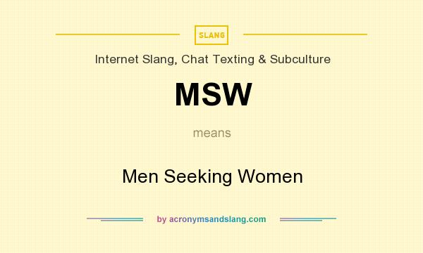 Man seeking women definition