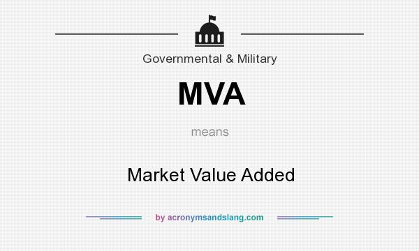 What does MVA mean? It stands for Market Value Added