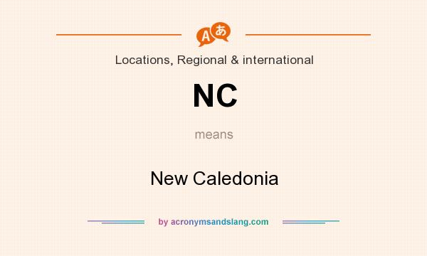 What does NC mean? It stands for New Caledonia